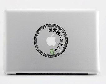 Canon 5D MK III Mode Dial Laptop Decal by Suzie Automatic