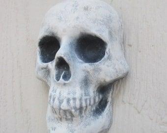 Skull Indoor/Outdoor Concrete Wall Hanging Plaque