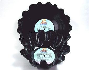 Star Wars Vinyl Record Bowl and Tray Set Vintage LP Album 1977 Original Soundtrack (Star Wars) Blue Lavender Label