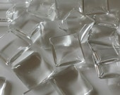 16mm square ultra clear glass tiles to make pendant, magnets, keychain etc...