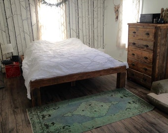 YOUR custom Made Barn Wood Bed Frame FREE SHIPPING - BWBF60F