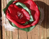 REDUCED Shabby chic floral pin for jacket/ scarf/ purse- Adorable for all seasons