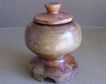 """6"""" Pecan Wood Treasure Box"""