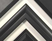 8 x 10 - 12 x 16 Classic Black Picture Frames