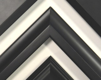 8 x 10 - 12 x 16 Classic Black Picture Frames