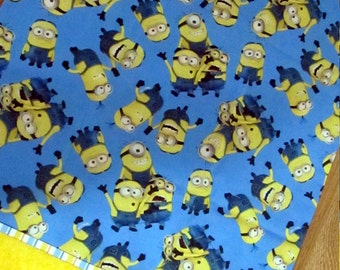 Blue and Gold Minion Standard Size Pillow Case
