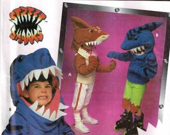 Child Shark Head Halloween Costume Sewing Pattern Simplicity 9813 0630 9808 Sewing Pattern Girls Boys Children Size 3 4 5 6 7 8