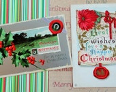 Antique Postcards for Christmas Using The Red Seal Lovely Graphics in Postcard Lot No 66 Total of 8