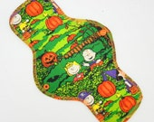 """12"""" Heavy Cloth Pad, Reusable Cloth Menstrual Pad ~  Made w/ Charlie Brown Cotton Woven, Windpro Fleece, Overnight Pad by MotherMoonPads"""