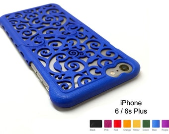 Made-To-Order iPhone 6s / 6 Plus (4-8 weeks) Designer Victorian Filigree Swirl Puzzle Case - 8 color options