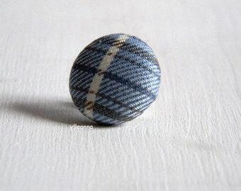 Lapel pin. Mens lapel button. Round boutonniere. Pale blue, ivory, brown. Mens accessories.