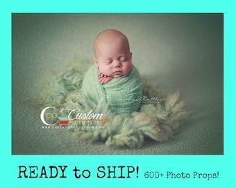 RTS Spearmint Green Stretch Newborn Photo Props, Newborn Baby Photo Prop, Newborn Photography Prop, Baby Props, Nubble, Fabric, Photo Props