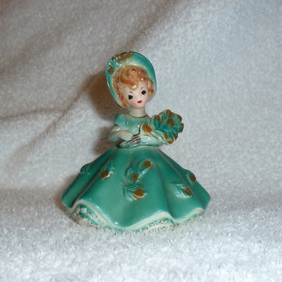 Vintage Josef Originals SEPTEMBER Birthday Figurine Girl Doll