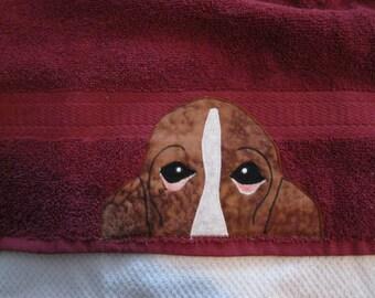 Basset Hound Head Hand Towel