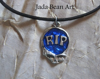 RIP Steal Your Face Jerry Garcia Necklace