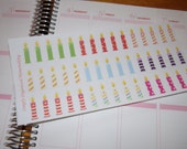 45 Birthday Candle Stickers / Planner Stickers / Scrapbooking / Paper Crafting