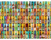 100 Bottles of Beer Poster - Perfert for College Dorms, Bar Decor, Man Cave