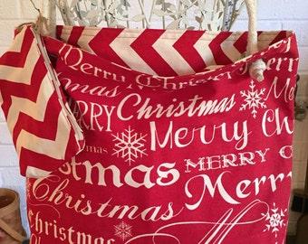 Christmas cheer canvas tote bag