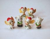Vintage Ornaments, Christmas, Mice, Kittens