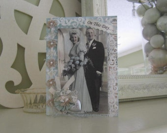 Handmade Wedding Card - Wedding Couple Card