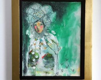 If Dreams Matter - Framed Original 11 x 14 Painting