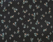 Novelty Cotton Fabric,  Floral Fabric, Lightweight Cotton Fabric, Black with Flower Craft Fabric, Cotton Fabric