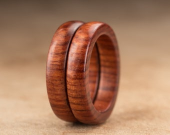 Size 5 - Stacking Mopani Wood Rings No. 134