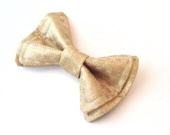 Gold Metallic Floral Bow Tie - Toddler Bow Tie - Gold Tie - Wedding Bow Tie - Gold Wedding - Rustic Wedding - Hollywood wedding - Boys tie