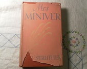 Mrs Miniver by Jan Struther First Edition 1940 classic