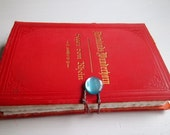 "Germany Journal, ""Rhineland Wunderhorn"", re-purposed vintage book journal with thick cotton rag paper"