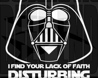 Star Wars Darth Vader Lack of Faith Disturbing T-Shirt #2 last jedi helmet