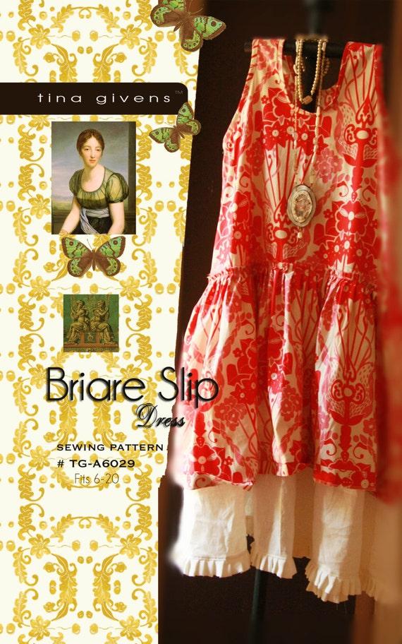 Briare Slip Dress Tg A6029 Sewing Pattern By Tina Givens