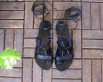 JUST ARRIVED! Arion - Greek tie up / lace up gladiator sandals/Real leather sandals/Greek sandals/Flat sandals/ Unisex sandals