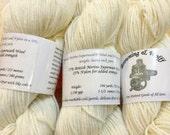 Merino Superwash/Nylon DK Sock Yarn - Natural White - 100g Skein
