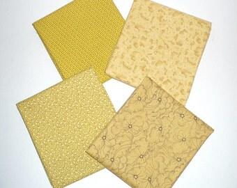 Fabric Bundle, Half yards, Golds, Yellow, cotton, Destash, P&B, Blenders, mixed lot