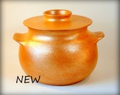 Clay Casserole, 4 qt., Micaceous Pottery, Clay Cooking Pot, Ceramics and Pottery
