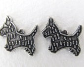 Vintage Antiqued Silver Ox Scottie Dog Charm Terrier Puppy Finding Pendant Metal 15mm chm0479 (4)
