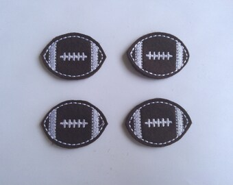 Football Brown Embroidered Felt Applique
