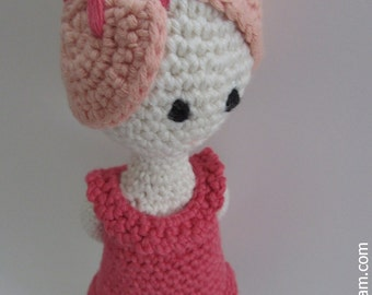 Crocheted  Doll -  made from certified 100%  organic cotton yarn