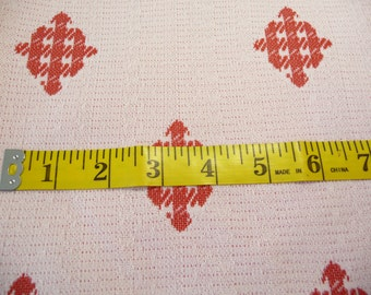 Red and White Polyester Double Knit Vintage Fabric, 1 Yard, Checker Diamonds, Sewing Fabric, Sewing Supplies, Skirt Fabric, Dress Fabric