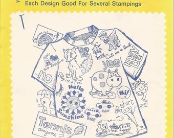 vintage Aunt Marthas Hot Iron On Transfers, T Shirt Fun, no 3785, sewing supplies, patterns, embroidery patterns, textile painting, patterns