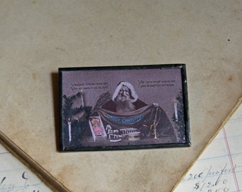 Real Photo Santa Postcard Pin, The Original Postcard Jewelry, Inventory Sale