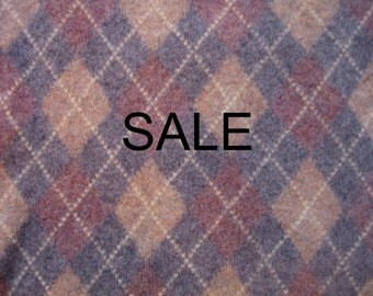 SALE - Supply - Felted Wool Sweater - Argyle - Recycled Fabric Material