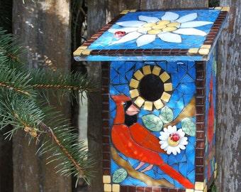 Birdhouse, Wall Mount, Cardinal