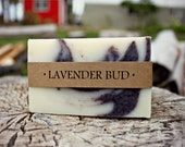 "Lavender Soap- ""Lavender Bud"" All Natural Hand and Body Soap. 1 Bar."