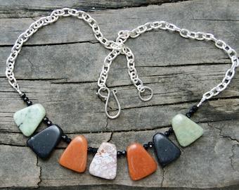 Autumnal Sunset Gemstone Necklace