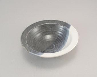 Serving Bowl, Serving Dish, Stoneware, Blue, White, Ready to Ship
