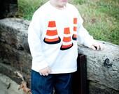 Safety Cone Applique Shirt