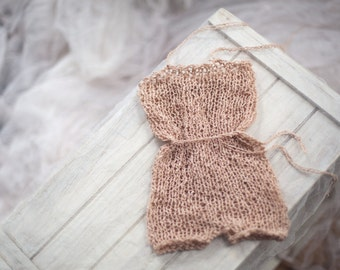 Blush Baby Romper - newborn photo prop