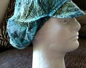 Floppy Cotton Patchwork Green Tie Dye/ Web Psychedelic Festival Hat